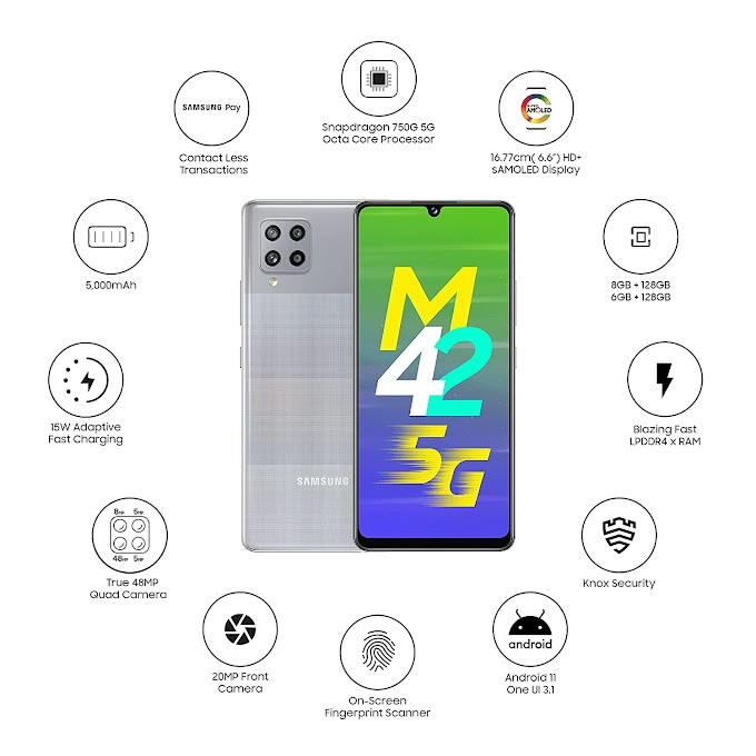 Samsung Galaxy M42 5G Prism Dot Grey, 6GB RAM, 128GB Storage