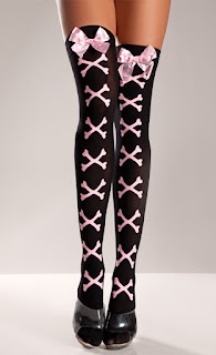 criss cross bones stockings