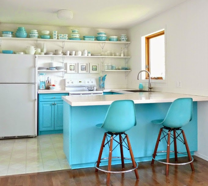 Turquoise Kitchen Cabinets: House Of Turquoise: Guest Blogger: Tanya From Dans Le