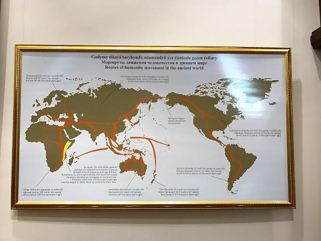 トルクメニスタン国立博物館の展示