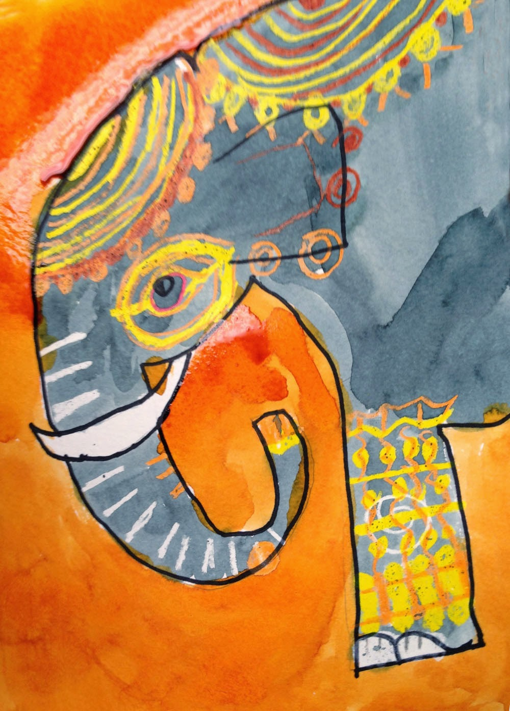 Lily's Elephant   Art Projects for Kids   Bloglovin'