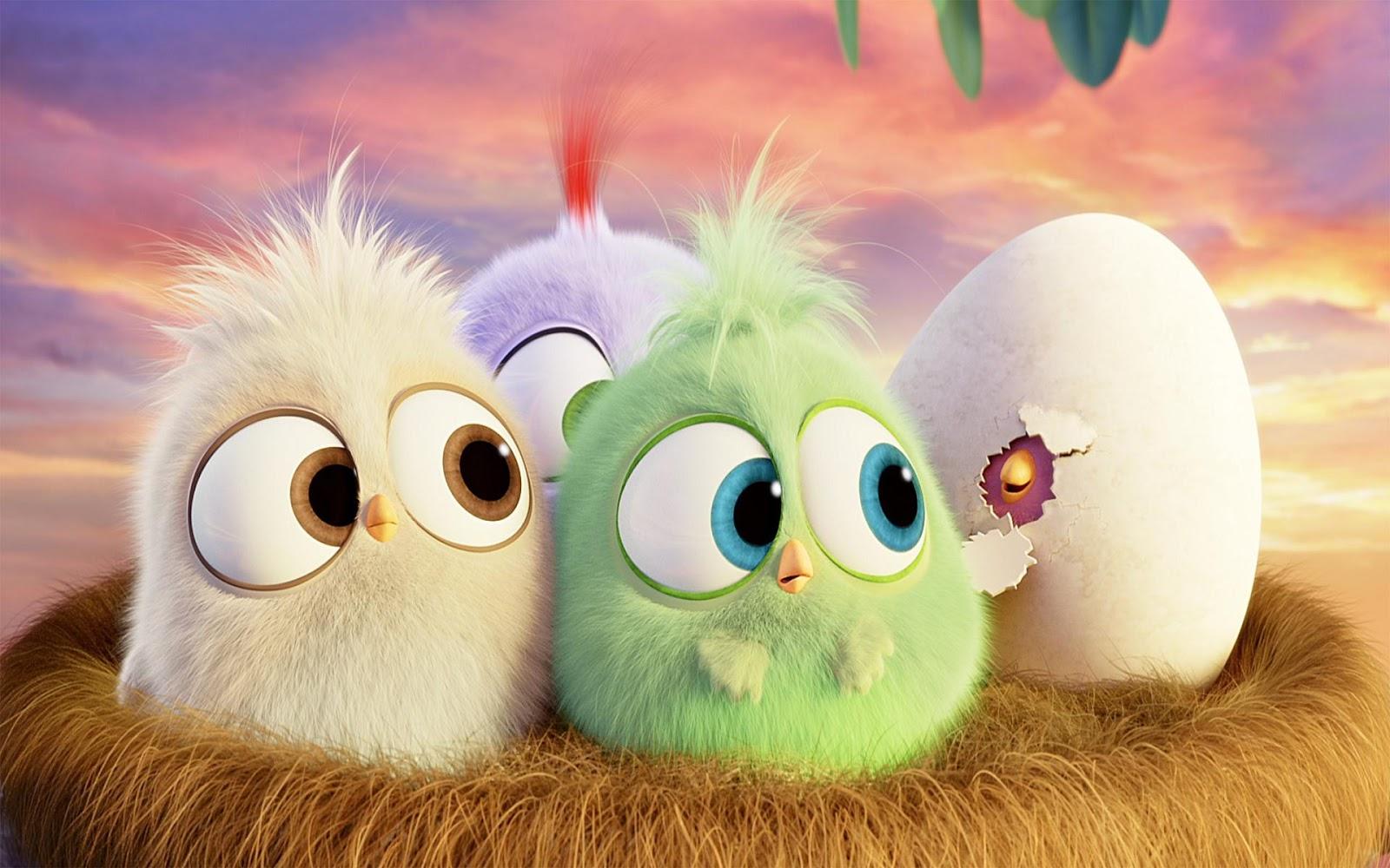 hình nền những quả trứng trong phim hoạt hình rất dễ thương