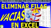 Eliminar Filas en Blanco Excel