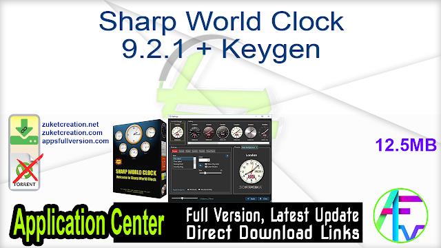 Sharp World Clock 9.2.1 + Keygen