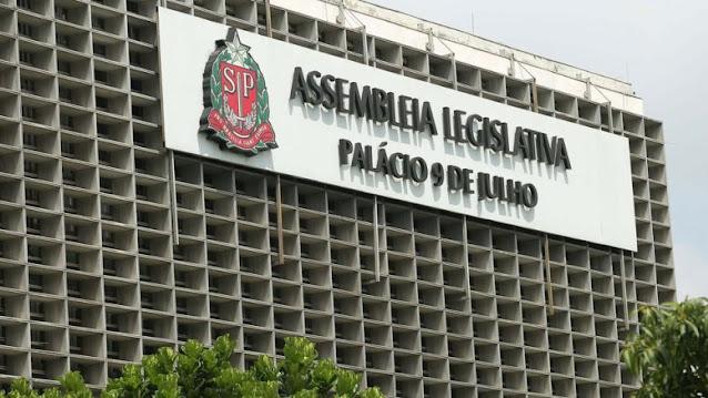 Foto da fachada da Assembléia Legislativa de São Paulo