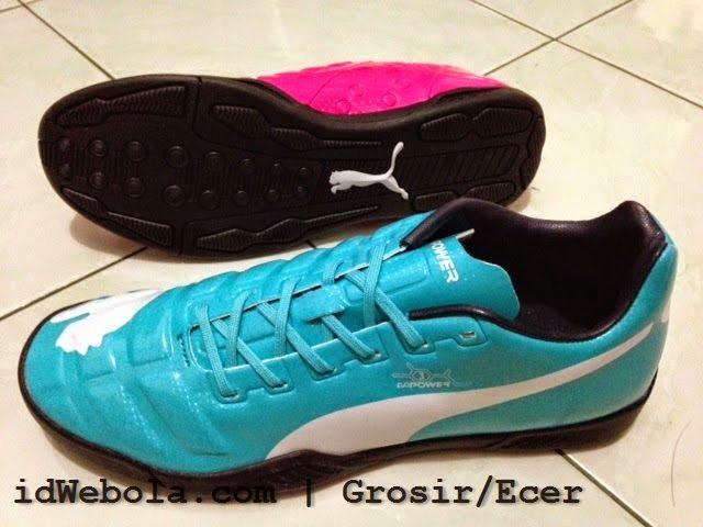 Sepatu Futsal Puma Evopower Biru Pink