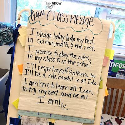 classroom pledge idea
