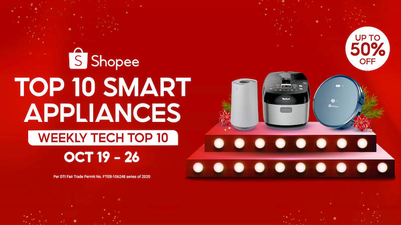 Get a smart appliance for as low as PHP 3,150 in Shopee's Weekly Tech Top 10!
