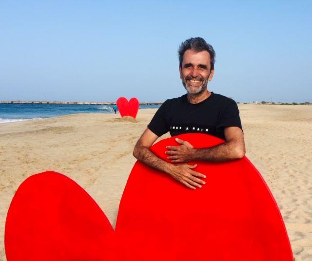 Artista de Fuerteventura Luis Guardia, expone en Cabo Verde