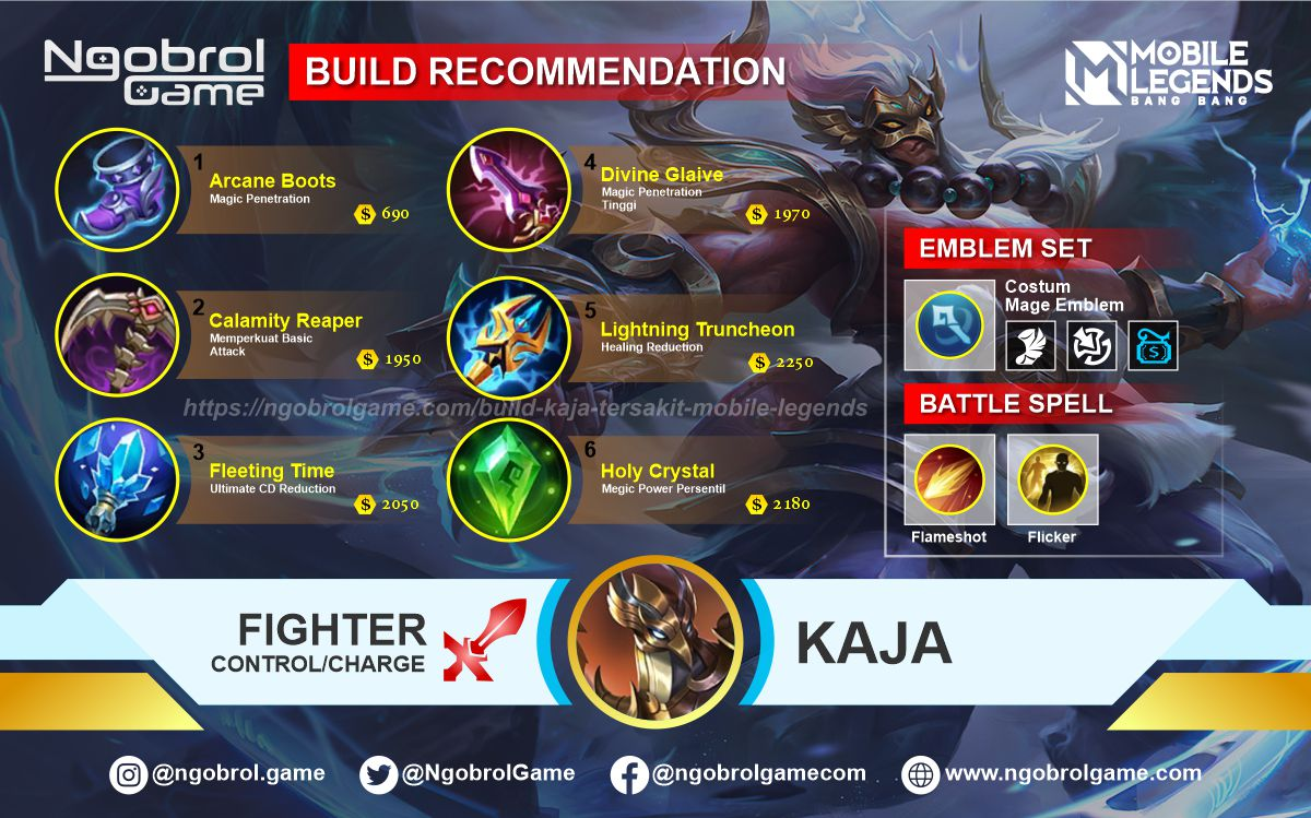 Build Kaja Top Global Tersakit Mobile Legends