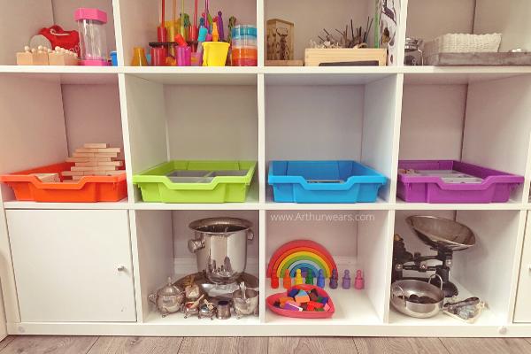 Gratnells tray activity ideas on ikea kallax shelves