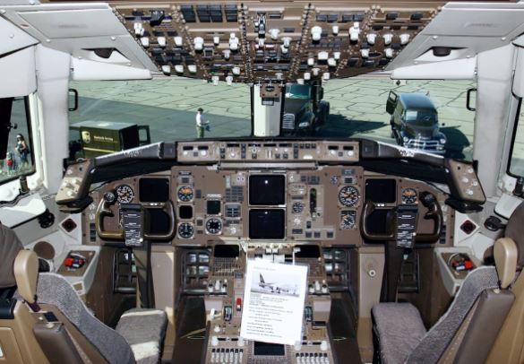 Boeing 767-300F cockpit