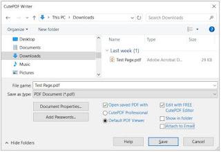 برنامج, إحترافى, لإنشاء, وصناعة, ملفات, PDF, من, أى, مستند, قابل, للطباعة, CutePDF ,Writer