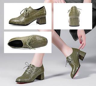Sepatu model chunky untuk wanita kaki besar yang mengadopsi style man shoes