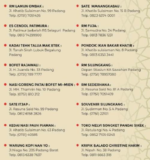 Infografis MTQ Nasional ke-28: Souvenir dan Kuliner di Kota Padang