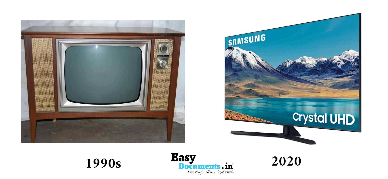 Television in 90s vs 2020