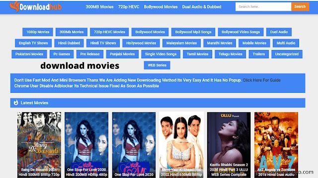 downloadhub Website 2020: Download Latest Tamil, Telugu & Hindi Movies