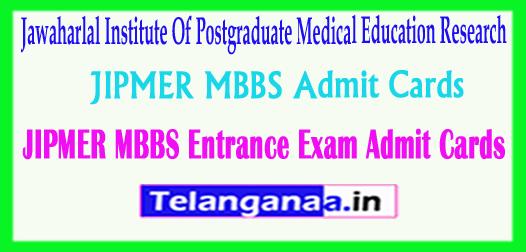 JIPMER MBBS Admit Cards 2018 Jawaharlal Institute Of Postgraduate Medical Education Research