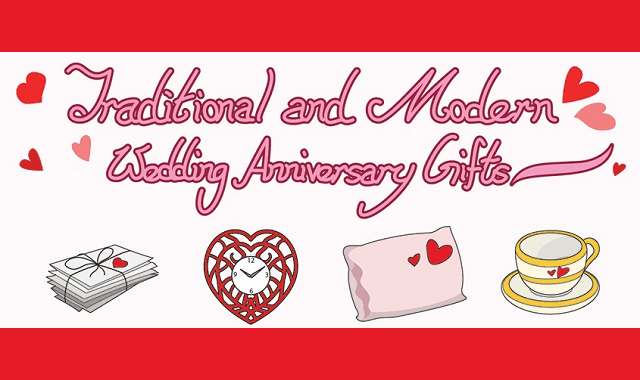 Traditional and Modern Wedding Anniversary Gifts