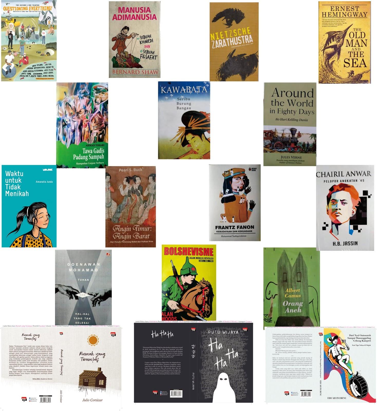 Jualan Buku Sastra Katalog Sastra JBS Januari 2019