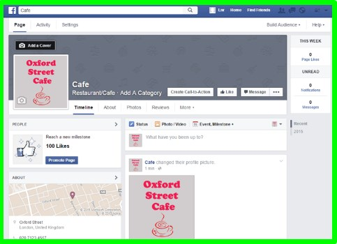 create facebook business page 2017