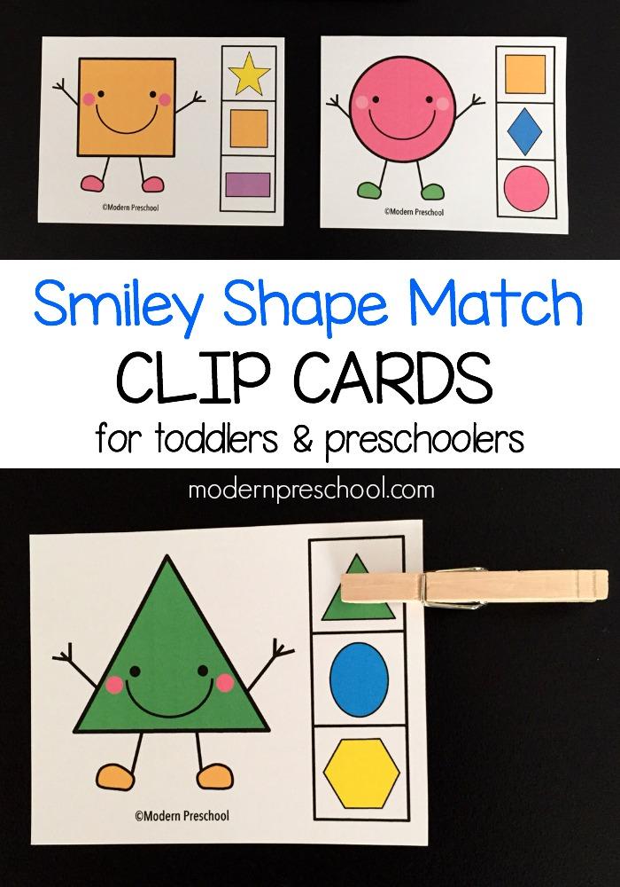 Shape Match Clip Cards