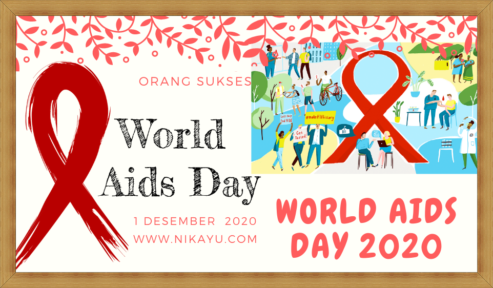 Poster Semangat Hari AIDS Sedunia Terbaru 1 Desember 2020 | World AIDS Day