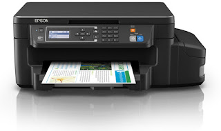 Print amazingly fresh content together with shocking shading records alongside the starting fourth dimension  Epson EcoTank ET L606 Drivers Download