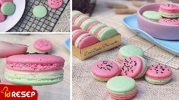 Resep Watermelon Macaron
