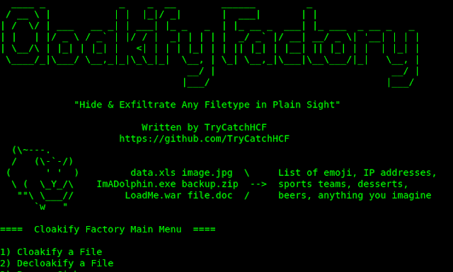 CloakifyFactory Kali Linux