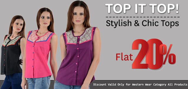 Buy Online Western Wear Women Shirts in Flat 20% Discount Offer Sale
