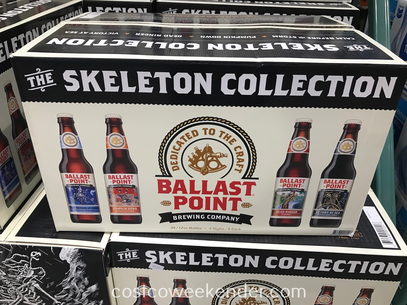 Grab a cold one and drink up from the Ballast Point Brewing Skeleton Collection