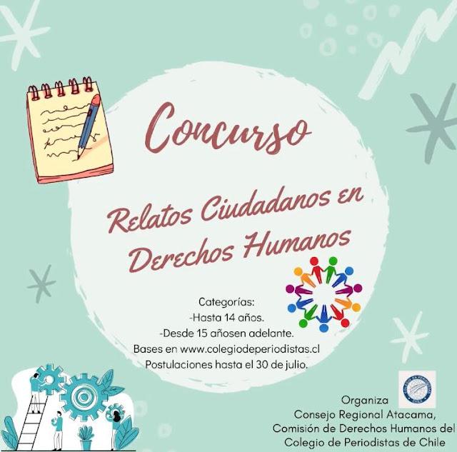 #Atacama Lanzan concurso regional de relatos en Derechos Humanos