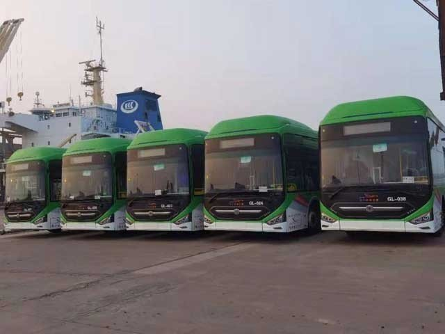 Buses reach Karachi for Green Line project