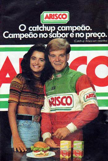 Propaganda antiga da Arisco com o Rubens Barrichello em 1993