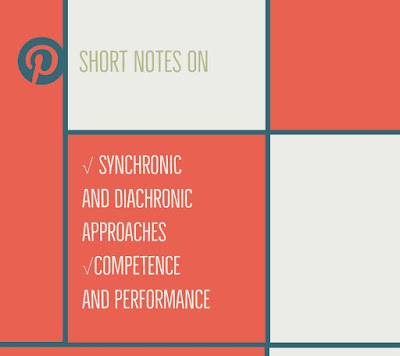 Synchronic and diachronic approaches in linguistics, Competence and Performance short notes