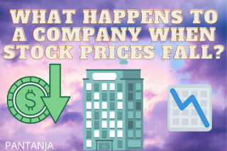 What happens to a company when stock prices fall?