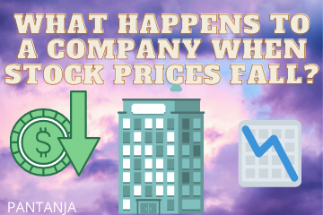 What happens to a company when stock prices fall( its stock crashes)?