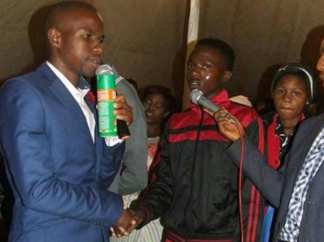 pastor using insecticide to heal people