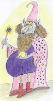King Arthurs wizard - Porky the Pink