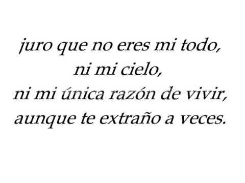 """""""Juro que no eres mi todo, ni mi cielo, ni mo única razón de vivir, aunque te extraño a veces."""" Raúl Gómez Jattin - Canción del amor sincero"""
