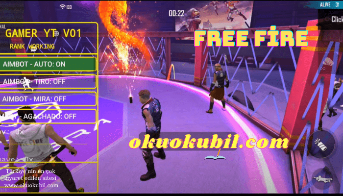 Free Fire Yeni Mod Menu OB26 Rank Sıra Çalışması Hile Android İndir