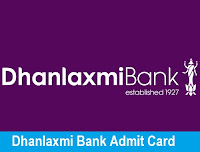 Dhanlaxmi Bank Admit Card