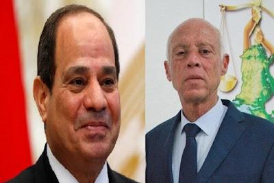 الرئيس السيسى, الرئيس التونسى, قيس بن سعد, التعاون بين البلدين,