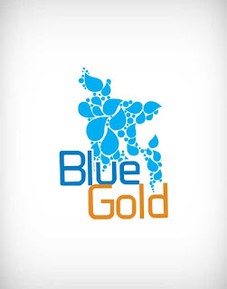blue gold vector logo, blue gold logo, blue gold, blue, gold, blue gold bangladesh, blue gold project, ngo, donation, help found, poor found