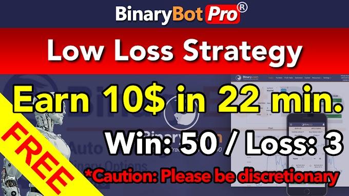 Low Loss Strategy | Binary Bot | Free Download