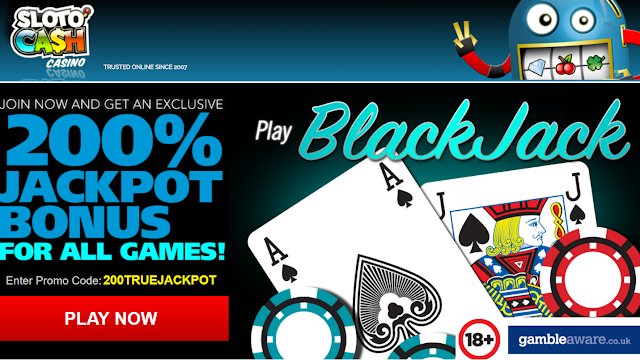 Jackpot Bonus: get 200% all allowed games match from Sloto Cash casino