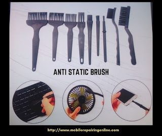 anti static brush is best for cleaning all components and FPC connector with safely removes any liquid from the surface of iPhone and Samsung mobile phone PCB