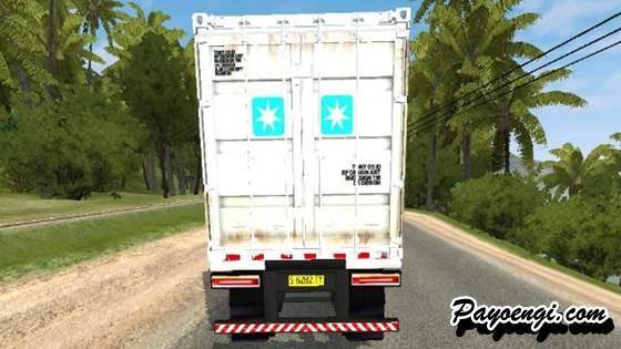 mod bussid hino trailer peti kemas bisa jadi muat kayu