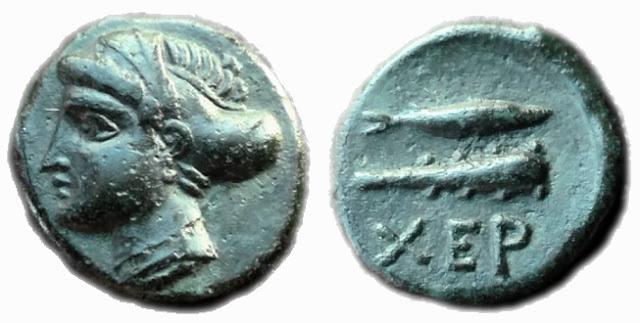 монеты с изображением Артемиды в Херсонеса